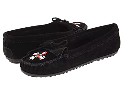 Minnetonka Thunderbird II (Black Suede) Women