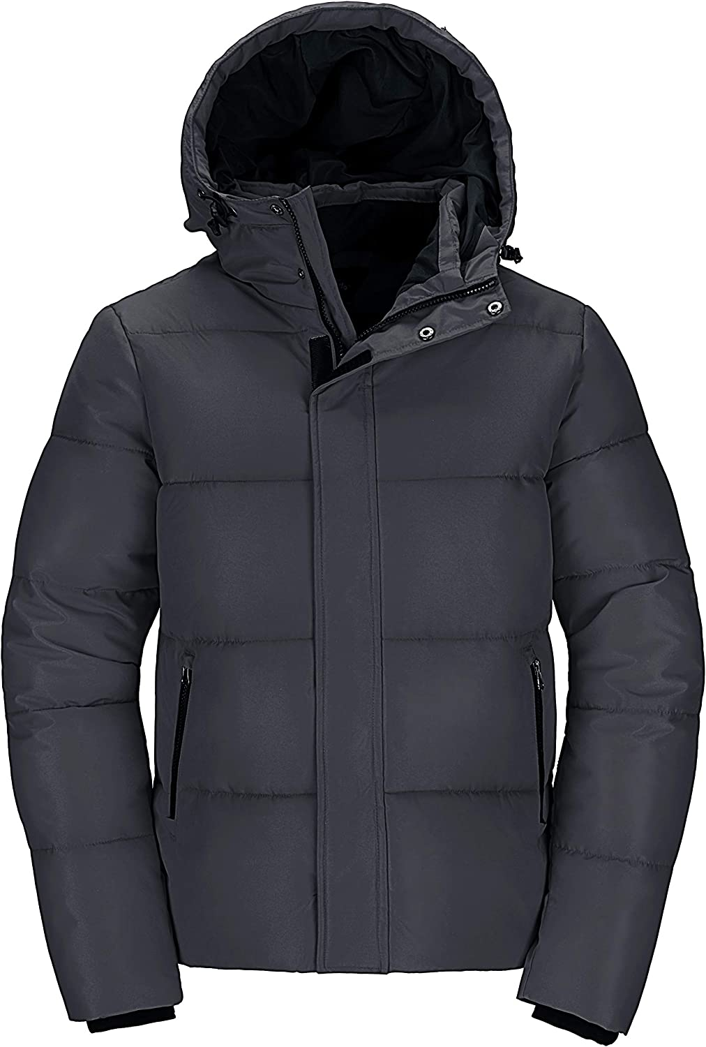 Wantdo Men's Quilted Winter Coat Thicken Puffer Jacket Warm Padded Outwear with Hood
