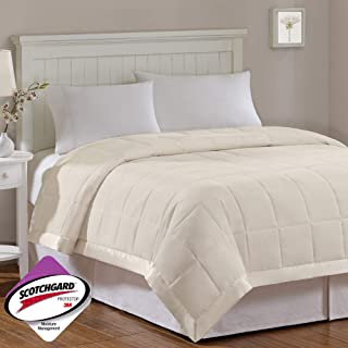 Madison Park Windom Lightweight All Season Stain Resistant Down Alternative with 3M Scotchguard Blanket, King, Ivory