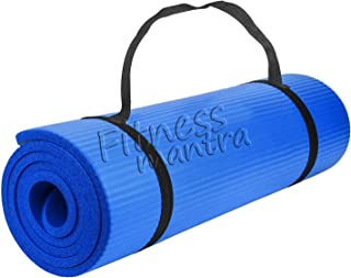 Fitness Mantra® Yoga Mat with Carrying Strap for Gym Workout and Yoga Exercise with 6mm Thickness, Anti-Slip Yoga Mat for ...