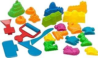 USA Toyz Play Sand Toys for Kids - 23 Pc Kids Sand Toys Play Sand Kit with Play Sand Castle Molds