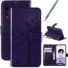 Robinsoni Case Compatibel met Huawei Nova 4 Case PU Lederen Case Portemonnee Case Glossy Bling Cover Glitter Notebook Magn...