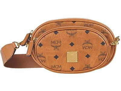 MCM Essential Visetos Original Crossbody Small (Cognac) Handbags