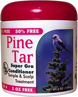 BB Pine Tar Super Gro Hair & Scalp Bonus 6 oz. (Pack of 6)