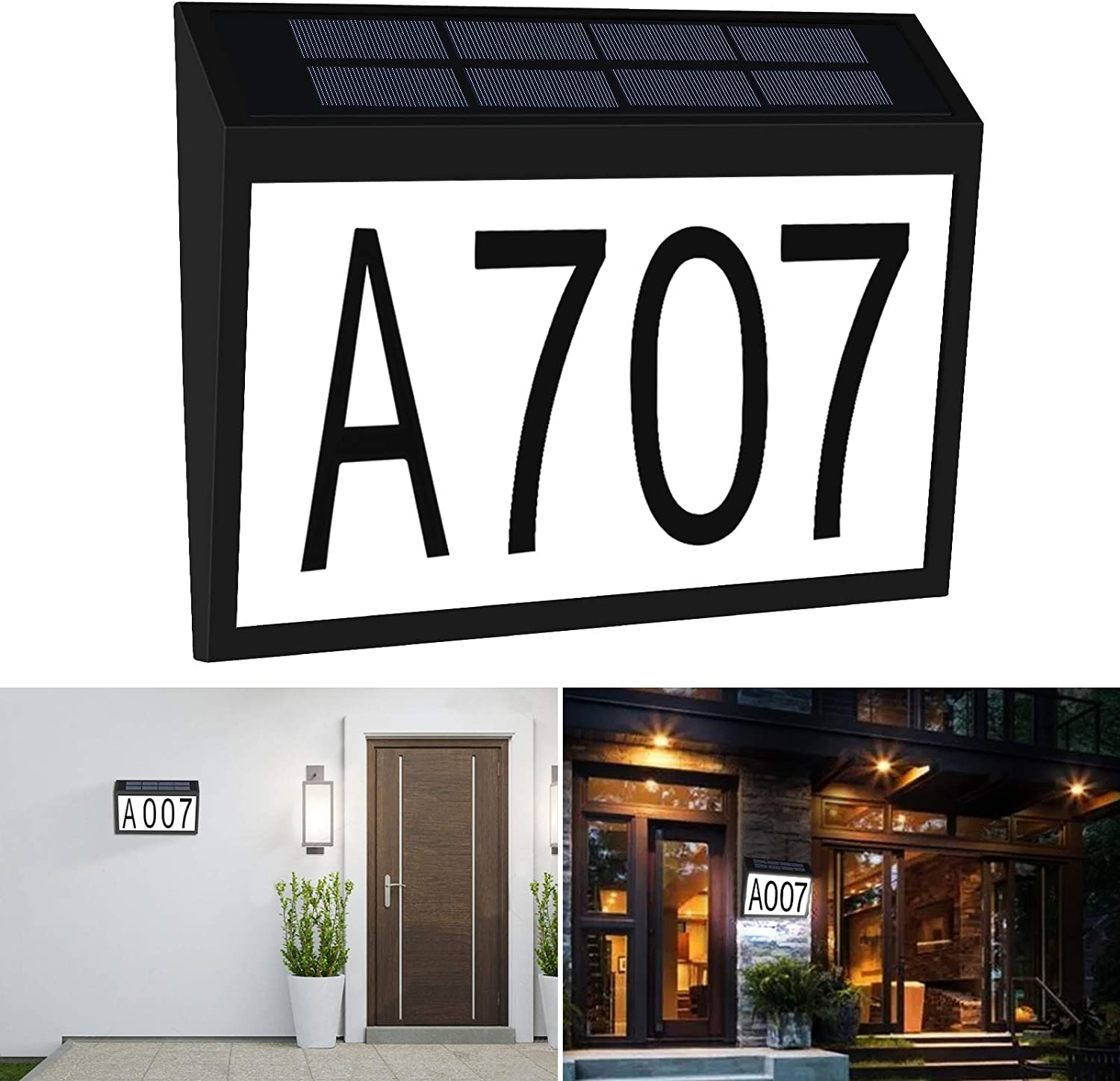 Direct stock discount Aflifli Solar House Number Ranking TOP17 Light Mount Wall Address Waterproof