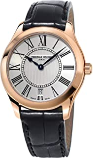 Frederique Constant Women's Classics 36mm Leather Band Rose Gold Plated Case Quartz Watch FC-220MS3B4