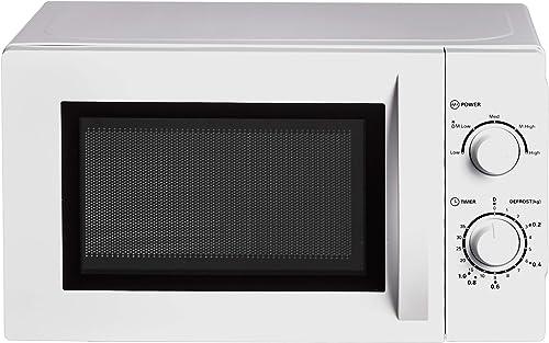 Amazon Basics Four à micro-ondes Solo pour comptoir, 20 L, 700 W - Blanc