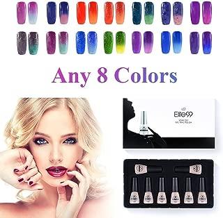 Elite99 Gel Nail Polish Set Thermal Temperature Color Changing Nail Polish Soak Off UV LED Nail Varnish Nail Lacquers Nail Art Manicure (Pick Any 8 Colors you want)