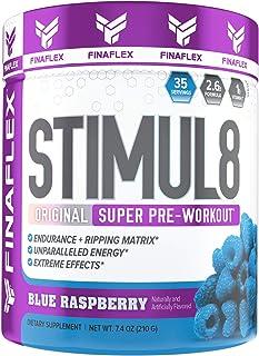 Stimul8, Original Super Pre-Workout with Vitamin C (35 Serving, Blue Raspberry)