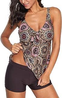 Zando Womens 2 Piece Swimdress Plus Size Skirted Bathing Suit for Women Slimming Swimwear Tankini Swimsuit Swim Dress