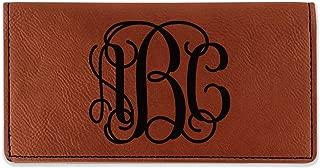 Interlocking Monogram Leatherette Checkbook Holder - Single Sided (Personalized)