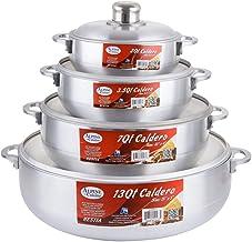 Aramco 8 Piece Alpine Gourmet Aluminum Caldero Set, 2/3.5/7/13 quart, Silver (AI-6928)