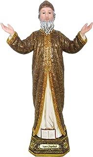 Saint Charbel Statue St. Charbel Sculpture Religious Decoration St Santo Figurine (6 Inch)