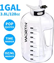128OZ/1 Gallon Water Bottle with Straw Motivational Water Bottle with Time Marker, Large Water Bottle 128 Oz Water Bottle, Big Water Jug for Sports Water Bottles, Two Handles BPA Free Water Bottle Gym