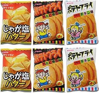 東豊製菓 ポテトフライ シリーズ じゃが塩バター フライドチキン味 カルビ焼の味 各2袋セット