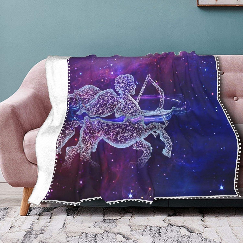 Shade Constellation Sagittarius Long Beach Mall Throw Fringe Pompom Blan Blanket 5 ☆ very popular
