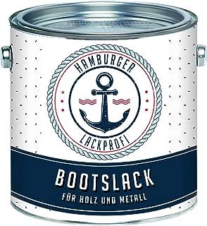 Hamburger Lack-Profi Bootslack MATT für Holz und Metall farblos Klarlack Yachtlack Yachtfarbe Bootsfarbe
