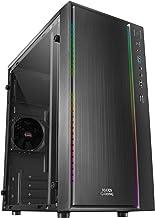 Mars Gaming MCM, Caja PC Micro ATX, Compacta, 16 Modos ARGB, Ventilador 8 cm