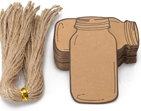Perfect for Birthday Party Arts /& Crafts Wedding Decoration Gifts Kraft Paper Brown Gift Tags with Natural Jute Twine 50PCS Hang Tags Blank Marking Tags