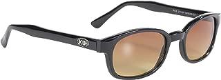 Pacific Coast Sunglasses 21119 Black Frame/Amber Lens One Size Biker Sunglasses