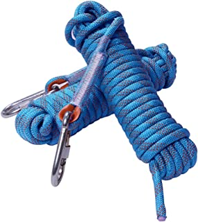 Rock Climbing Rope, 12mm Diameter Static Outdoor Hiking Accessories High Strength Cord Safety Rope (10m,32ft)(20m,65ft) (3...