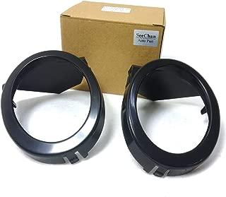 Fog Light Trim Ring Cover Fit for BMW E46 M3 2001-2006 Black L+R Car SC-51112695255,51112695256