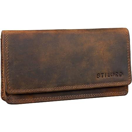 STILORD 'Lotta' Vintage Cartera de Cuero para Mujeres RFID Protector Monedero Femenino Billetera Señora para Tarjetas Billetes y Monedas con Caja de Regalo, Color:marrón - Medio
