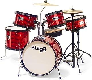 Stagg TIM JR 5//16 RD Bater/ía infantil de 5 piezas color rojo
