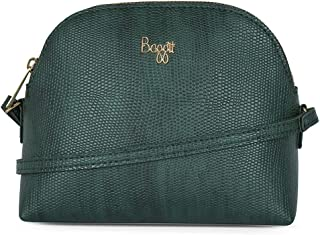 Baggit Spring-Summer 2019 Faux Leather Women's Bowling Bag (Green) (Clown)
