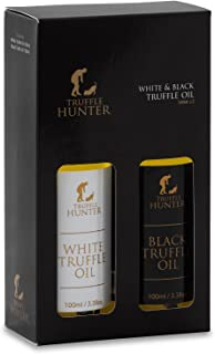 Black & White Truffle Oil Gift Set (2 x 100ml) by TruffleHunter - Extra Virgin Olive Oil - Non-GMO, Vegan, Kosher, Gluten ...