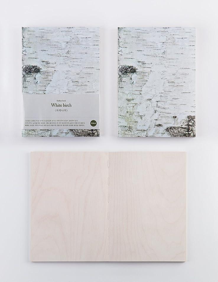 Hardcover Surface book Whitebitch Plain A5 ほぼ180度段差がなく開く ハードカバー 無地