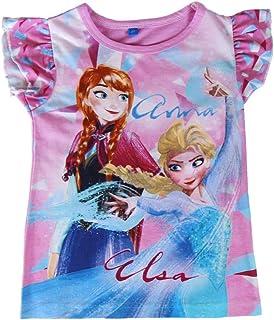 6 anni Anna Frozen 2200002627 Canotta cotone Top Maglia Elsa