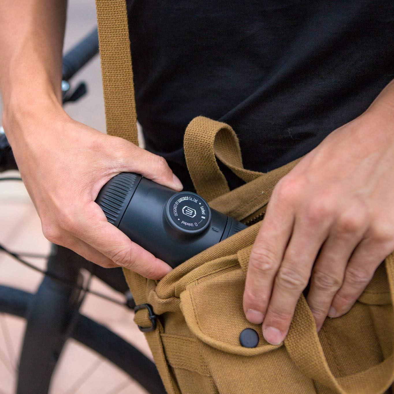 SDFG Mini Portable à Presser à La Main avec Nouvelle Machine à Café à Café Maison à Double Usage De Deuxième Génération Noir