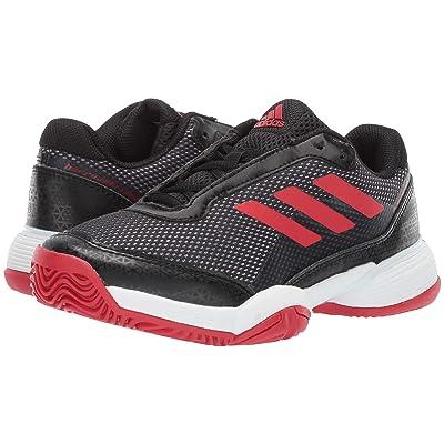 adidas Kids Barricade Club xJ Tennis (Little Kid/Big Kid) (Black/Scarlet/White) Kids Shoes