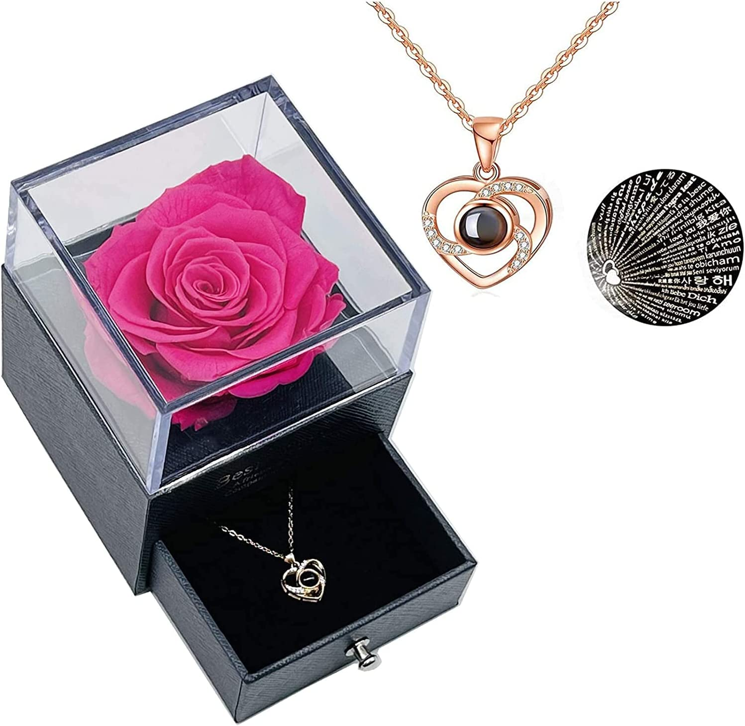 Same day shipping Preserved Rose - Best Gifts for All items free shipping her Nec Silver with 925 You Love
