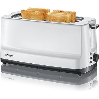 SEVERIN AT 2234 Automatik-Toaster (1.400 W, 2 Langschlitzkammern, Für bis zu 4 Brotscheiben) weiß/grau