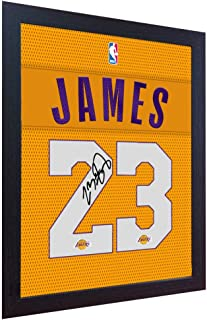 S&E DESING Lebron James Lakers Signed Autograph NBA Printed on 100% Cotton Canvas Framed