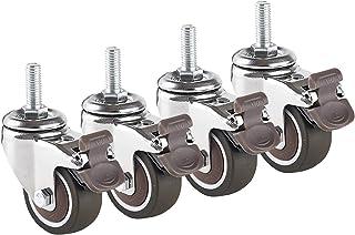 LKLXJ Metalen zwenkwiel, Bureaustoel wielen, zwenkwielen 4 stks, Geschikt voor bureau, Verdikte klinknagel bevestiging, Sc...