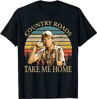 Retro Country Roads Take Me Home Love John Shirt Denver Gift T-Shirt