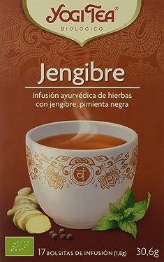 Yogi Tea Zenzero, Infusión de Hierbas Jengibre, 17 bolsitas de infusion de 1.8 gr