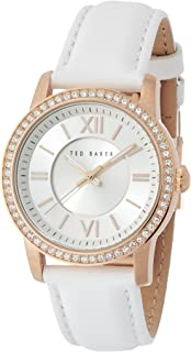 Ted Baker Women's TE2113 Smart Casual Three-Hand White Leather Watch