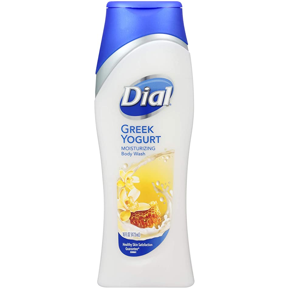Dial Moisturizing Body Wash, Greek Yogurt 16 oz (Pack of 3)