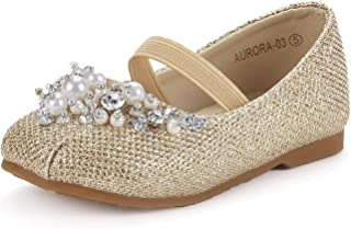 507fe1a895a DREAM PAIRS Girl s Toddler Little Kid Big Kid Aurora Mary Jane Ballerina  Flat Shoes
