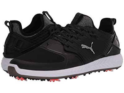 PUMA Golf Ignite PwrAdapt Caged (Puma Black/Puma Silver/Puma Black) Men