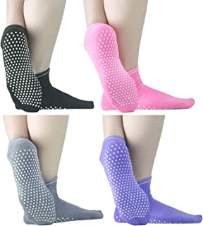 Sticky Grippers Non Skid Socks ELUTONG 1/2/4 Pack Floors Slip Socks For/Men/Women