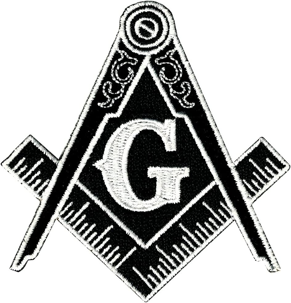 Masonic Logo Patch Black Iron Over item handling ☆ Oklahoma City Mall On G S Freemason Embroidered Mason