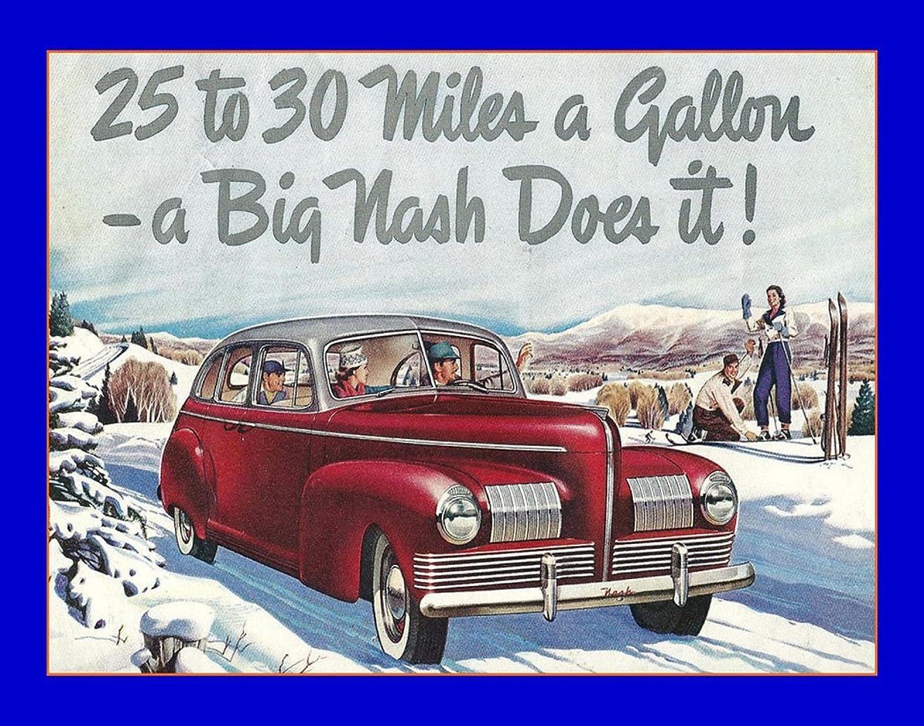 計算する侵略月曜8×10インチのフォトフレーム1940広告 ナッシュカー用