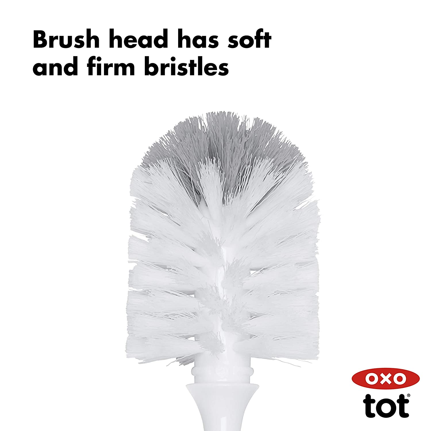 OXO Tot Bottle Brush with Nipple Cleaner, Gray : Baby
