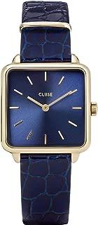 Cluse La Tetragone Leather, Gold, Blue/Blue Alligator CW0101207028