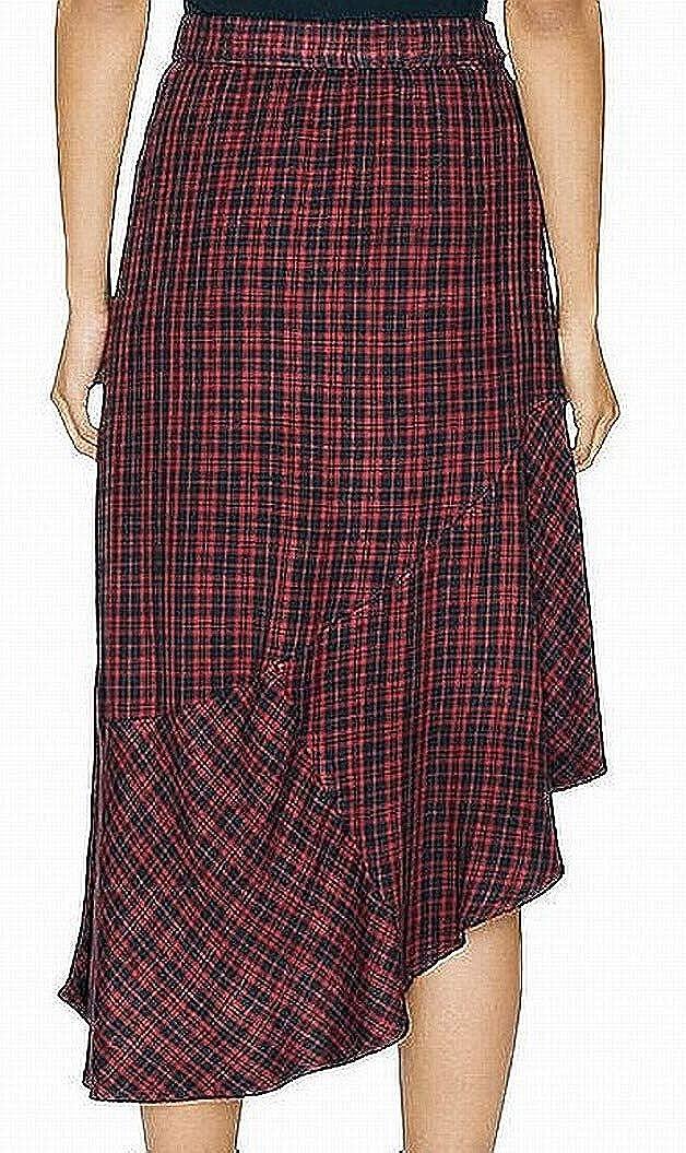 Sanctuary Womens Shes The One Asymmetric Plaid Midi Skirt